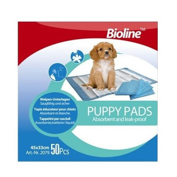 Pañales adiestramiento Puppy Pads Bioline 50u