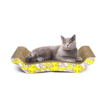 Rascador Cartón Tipo Trono Incluye Catnip
