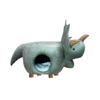 Rascador con banquillo Diseño Triceratops