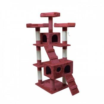 Rascador Torre 1.70M Ideal Para Varios Gatos