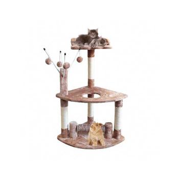 Rascador Torre Pequeño Con Varillas y Juguetes