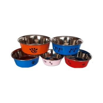Plato Acero Inoxidables Tipo Bowl Con Diseños Colores