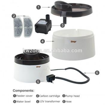 Fuente de Agua Con filtro de Carbón Activo + Luz Led