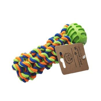 Juguete Cuerda De Algodón Trenzada + Goma Dura 35 Cm