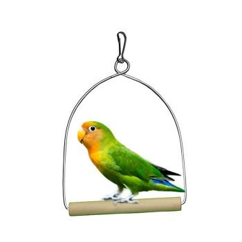 Columpio Con Base De Madera Para Aves