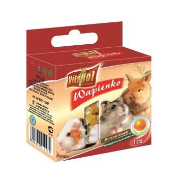 Cubo Mineral con Naranja Para conejos y Roedores