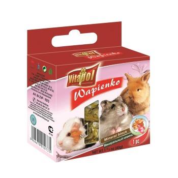 Cubo Mineral con Dandelion Para Conejos y Roedores