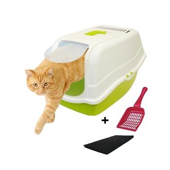 Baño sanitario Romeo para Gato con carbón activo + Pala