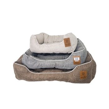 Cama Tela del sofá de tiras marrones