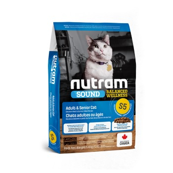 Nutram Sound Balanced Wellness Adult Senior S5