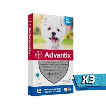 3x Pipeta Advantix de 4 a 10 KG