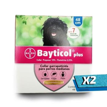 2x Collar Bayticol Antipulgas y Garrapatas Talla M