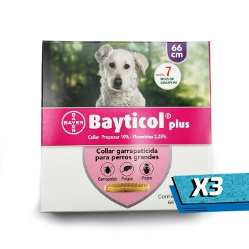 3x Collar Bayticol Antipulgas y Garrapatas Talla L