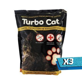 3x Top k9 Arena Turbo Cat Cristal Detección de Enfermedades