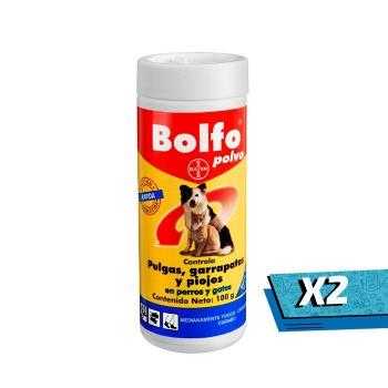 2x Bolfo Polvo para Pulga, Garrapata y Piojo