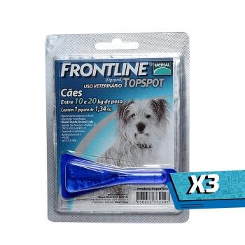 3x Pipeta Frontline TopSpot de 10 a 20 KG