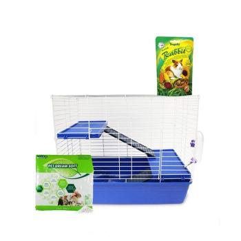Kit Jaula 3 pisos para Conejo