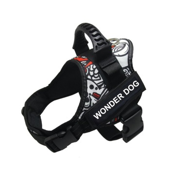 Arnes Wonder Dog Pro Camuflaje Blanco y Negro