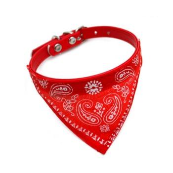 Collar Modelo Cowboy Rojo para Perro y Gato