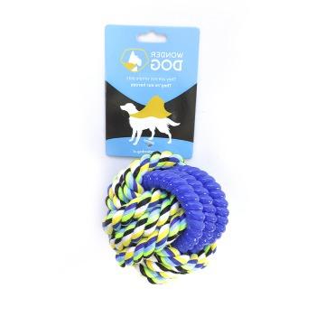 Wonder Dog Juguete de algodón con goma