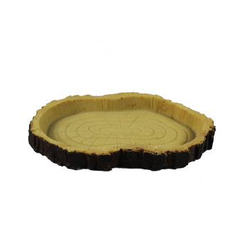 Plato de Comida Imitación de tronco