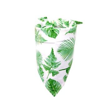 Bandanas Con Diseños Verde Con Hojas
