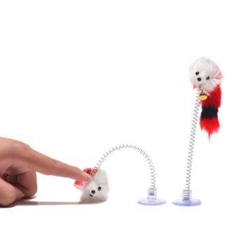 Juguete Varilla con chupo Ratón con cola y campana