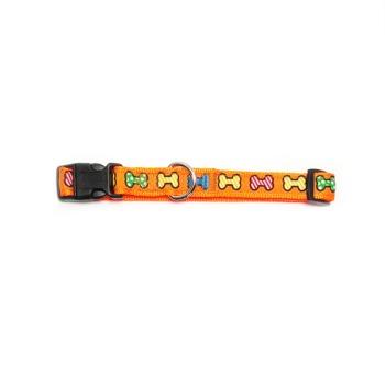Wonder Dog Collar de Huesitos Naranja