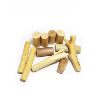 Juguete Trocitos cilindricos de madera para Roer