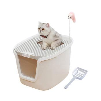 Baño Sanitario para gato con doble puerta + pala + Filtro + Juguete Raton