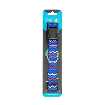 Wonder Dog Collar Mini Zigzag Azul