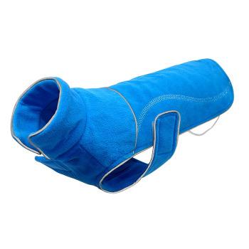 Capa Polar Para Perro Azul