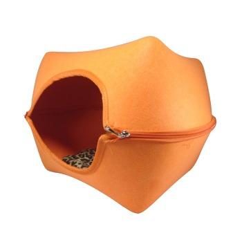 Casa De Fieltro Para Gatos En Forma De Cubo