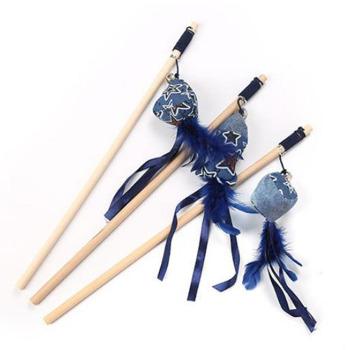 Wonder Cat Juguete Varilla diseños estrellas azules 40 cm