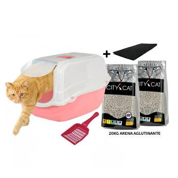 Kit Romeo + 1 Filtro + Arena City Cat 10KG + Palita