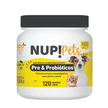 NUP! Pets Pre & Probióticos para perros y gatos Sabor Pollo 120gr