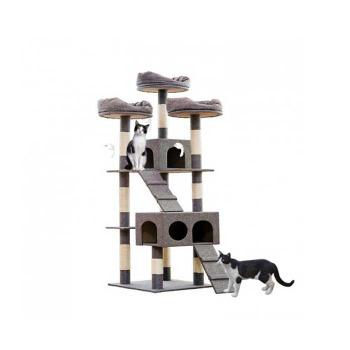 Rascador Torre 1.80Mts con Casas para gato