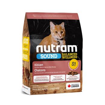 Nutram S1 Sound KIitten Balanced Wellness 1.13k