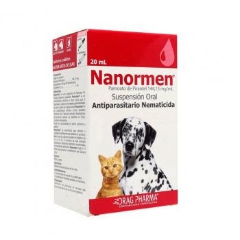 Nanormen Suspensión oral, Antiparasitario para Perros y Gatos 20ML