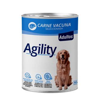 Lata Agility para Perro Adulto sabor Carne de Vacuno