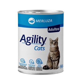Lata Agility para Gatos Adultos sabor Merluza