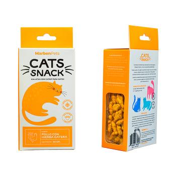 Cats Snack Galletas con Hierba Gatera Sabor a Pollo