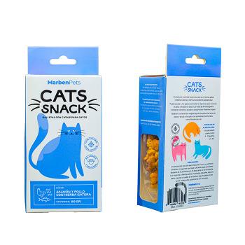 Cats Snack Galletas con Hierba Gatera Sabor Salmón y Pollo