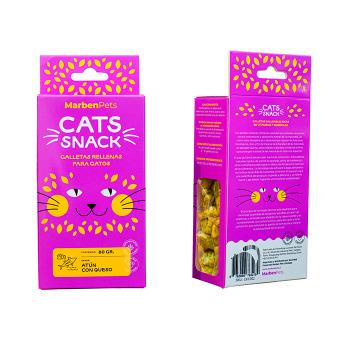Cats Snack Galletas Rellenas con Atún y Queso