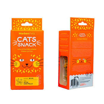 Cats Snack Galletas Rellenas con Atún y Pollo