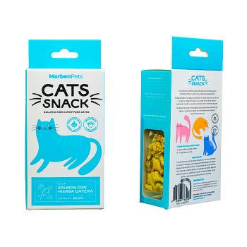 Cats Snack Galletas Con Hierba Gatera Sabor Salmón