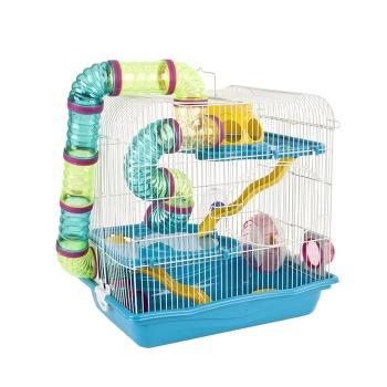Jaula hamster 3 pisos + tubos