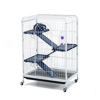 Jaula huron chinchilla 3 pisos con ruedas