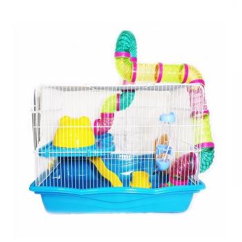 Jaula Hamster 2 Pisos X L Full Equipo + Tubos