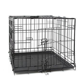 Jaula Para Mascotas de Acero Con Bandeja de Limpieza para Perro